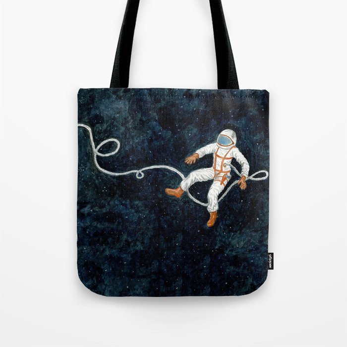 Astronaut Floating Through Space Tote Bag