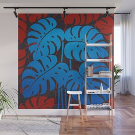 PLANTS - philodendron#2_Blue Wall Mural