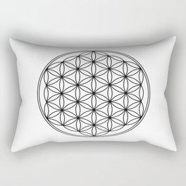 Flower of life in black, sacred geometry Rectangular Pillow
