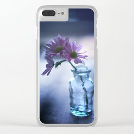 Blue Evening Clear iPhone Case