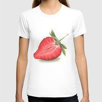 strawberry T-shirts featuring Strawberry by Sam Luotonen