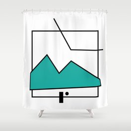 ABSTRACT MOUNTAIN LINES Shower Curtain