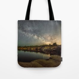 Milkyway at Halibut Point State Park quarry Tote Bag