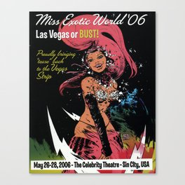 """""""Miss Exotic World"""" 2006 by Paul Pope Canvas Print"""