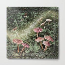 Fairyland (Woodland Mushrooms) Metal Print