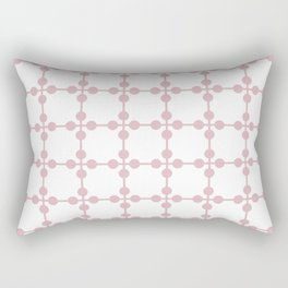 Droplets Pattern - White & Dusky Pink Rectangular Pillow
