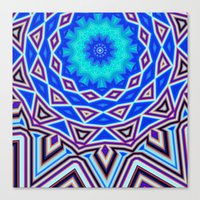 sacred geometry Canvas Prints featuring Sacred Geometry by Michael White