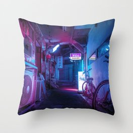 Tokyo Nights / Blue Monday / Liam Wong Throw Pillow