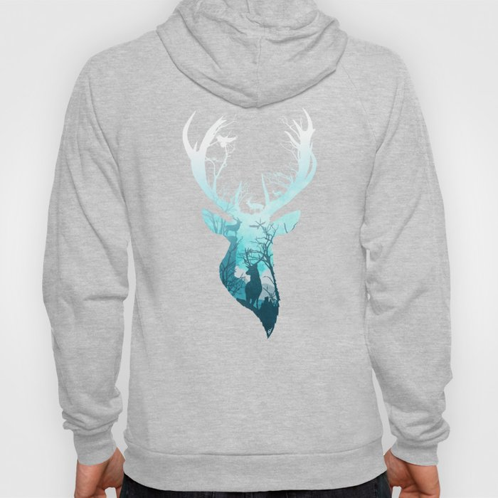 Deer Blue Winter Hoody