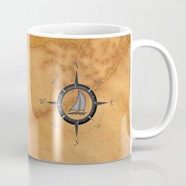 Sailboat And Compass Rose Coffee Mug