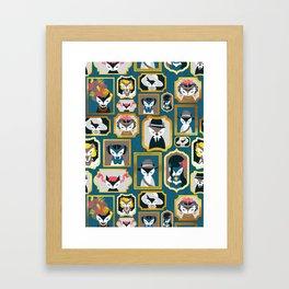 Cats wall of fame Framed Art Print