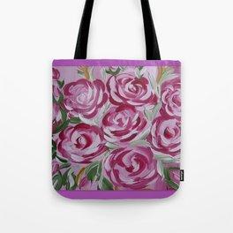 fresh pink roses Tote Bag