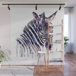 Zebra Head Wall Mural
