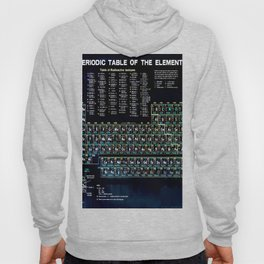Periodic Table Of The Elements Vintage Chart Science Chemistry Teacher Student School Black Hoody