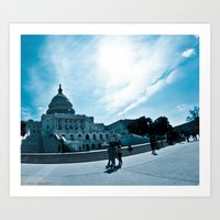 dc Art Prints featuring DC by Nick Duarte