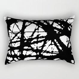 tension, black and white Rectangular Pillow