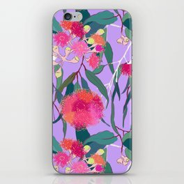 Australian Gumnut Eucalyptus Floral in Lilac Orchid iPhone Skin