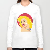 rowing Long Sleeve T-shirts featuring pop art  by mark ashkenazi