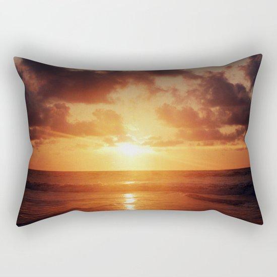 Sunrise over the Ocean Rectangular Pillow