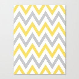 Gray & Yellow Chevron Canvas Print