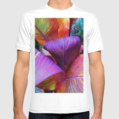 The Colours Of Nature: (After Rain) White MEDIUM Mens Fitted Tee