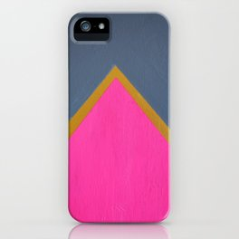 Classy Arrow Pink, Gold and gray iPhone Case