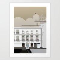 buildings Art Prints featuring Buildings by Studio Caravan