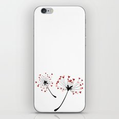 Floating Dandelion Heart Seeds by Cam Fam Creations iPhone & iPod Skin