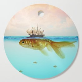 Goldfish Tall Ship Cutting Board