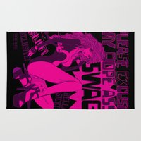 swag Area & Throw Rugs featuring PARDON MY SWAG by Chandelina