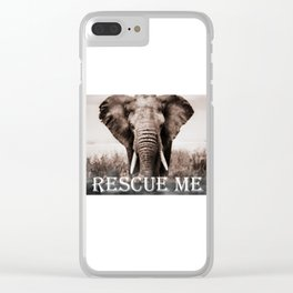 Elephant Rescue Clear iPhone Case