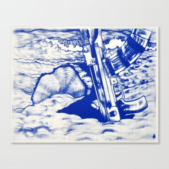 AK47 Beach Party Canvas Print