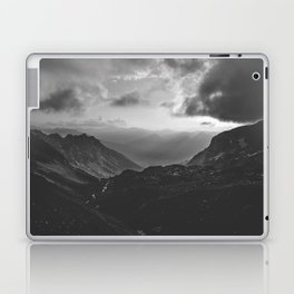 Valley - black and white landscape photography Laptop & iPad Skin