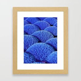 Blue Asian Impression Framed Art Print
