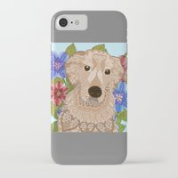 golden retriever iPhone & iPod Cases featuring Golden Retriever by ArtLovePassion