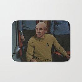 Captain Picard in TOS uniform Bath Mat