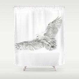 Snowy Owl, Bubo Scandiacus Shower Curtain