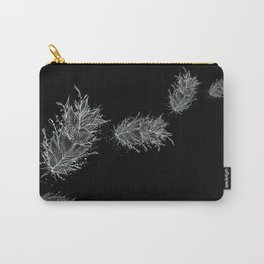 Flying Feathers Black and White Carry-All Pouch