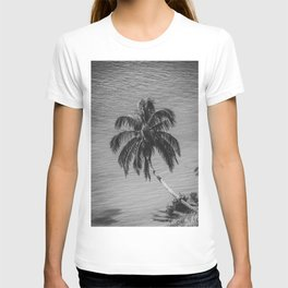 Palm Over Water Black and White Nature / Botanical Photograph T-shirt