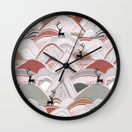 caribou mountains sienna Wall Clock