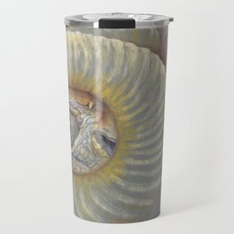 Scary Dragon Eye Weird Reptilian Monster Eye Surreal pastel drawing Fantasy Book illustration Travel Mug