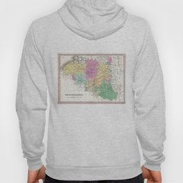 Vintage Map of Belgium (1827) Hoody