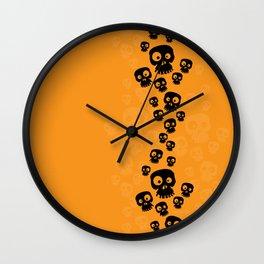 Skulls Fun - black/orange Wall Clock