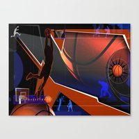 basketball Canvas Prints featuring Basketball by Robin Curtiss