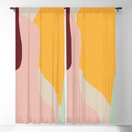 Ziz Abstract Painting Blackout Curtain