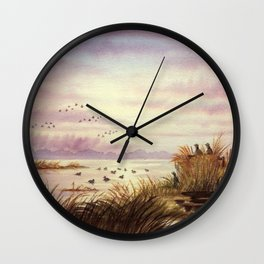 Duck Hunting Companions Wall Clock
