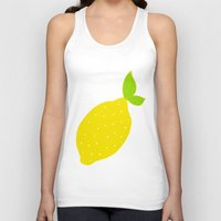 lemon Tank Tops featuring Lemon  by Ariel Lark