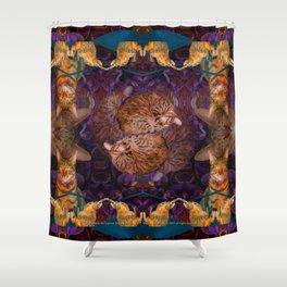 Theadora the Explorer Dreams of Flora Shower Curtain