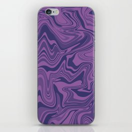 Two-toned purple Agate iPhone Skin