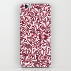 Swirls Red iPhone & iPod Skin